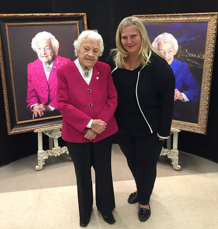 Hazel McCallion with Leslie