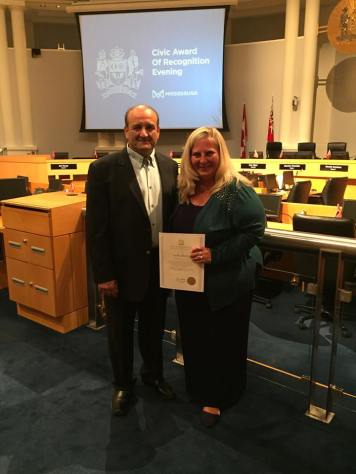 Leslie receives Civic Award of Recognition