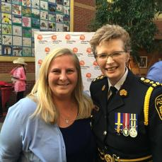 Leslie Silvestri and Chief Jennifer Evans