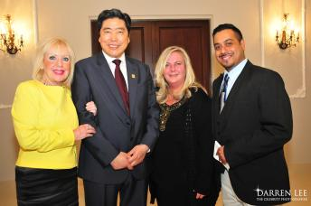 Linda Leatherdale, Shenglin Xian, Leslie and Randy Persaud